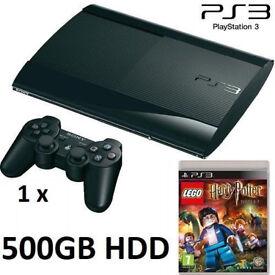 PS3 Super Slim 500GB HDD + LEGO Harry Potter Game Bundle