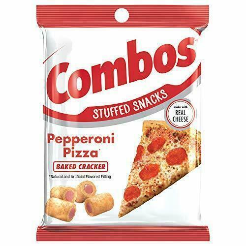 COMBOS Pepparoni Pizza Baked Cracker Stuffed Snacks, 6.3 Oz (1-Large Bag)