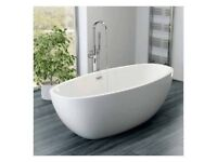 Freestanding Bath Double Ended 1700mm x 800 mWhite Acrylic FREE TAP