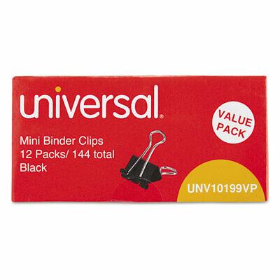 Mini Binder Clips Steel Wire 14 Capacity 12 Wide Blacksilver 144pack