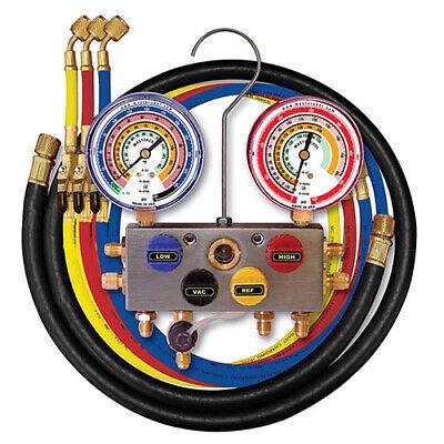 Mastercool 96336 4-way 38 Bv Manifold W3-14 Hoses