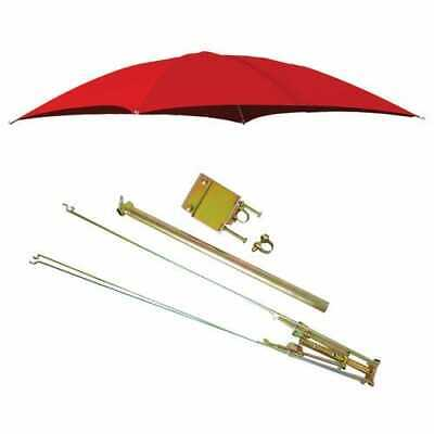 Rops Tractor Umbrella With Frame Mounting Bracket 54 10 Oz. Duck Canvas - Red