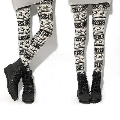 Festive leggings are great teamed with a Christmas jumper