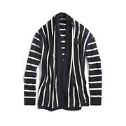 Blue White Stripe Cardigan