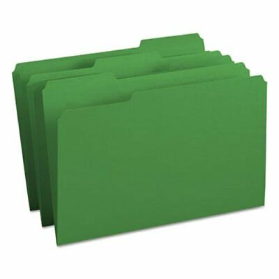 Smead File Folders 13 Cut Top Tab Legal Green 100box Smd17143