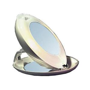 zmirror lighted compact 1x and 10x magnifying vanity travel mirror ebay. Black Bedroom Furniture Sets. Home Design Ideas