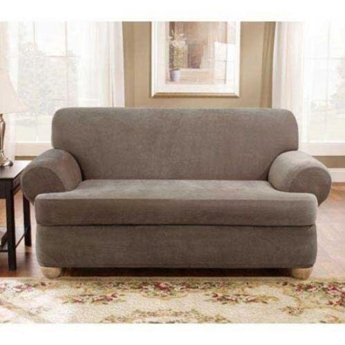 2 Piece Stretch Sofa Slip Cover EBay