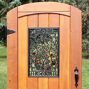 Nuvo Iron Rectangle Decorative Gate Fence Insert ACW61 - Black