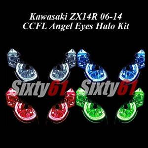 Kawasaki Ninja ZX14R 2006-2018 CCFL Demon Angel Eyes Halo lights rings kit set