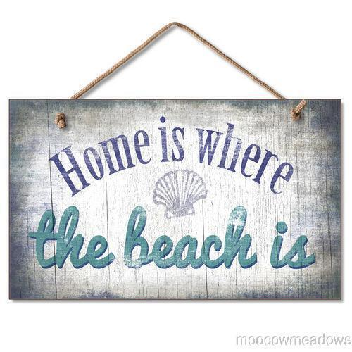 Decorative Signs For Your Home: Wood Beach Sign