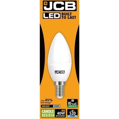 520lm Led-licht (5x 6w=40w LED Ses E14 Opal Glühbirne Kerze 6500k Tageslicht 520lm's Jcb S10982)