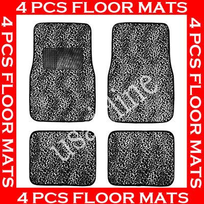 GREY CHEETA FASHION CARPET FLOOR MATS FOR CAR 4 PCS  BEST QUALITY