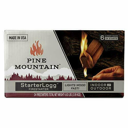 24Pc Starter Log Firestarter Fireplace Firelighter Fire Logs Wood Stove Campfire