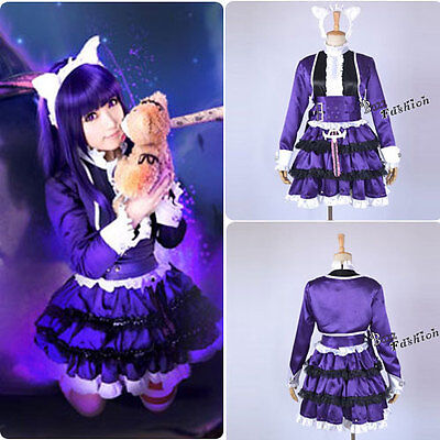 League of Legends Annie Cosplay Kostüm Kopfschmuck Ohren Strümpfe Lila kleid - League Of Legends Cosplay Kostüm