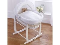 Brand new Clair de Lune moses basket unopened in the box with blanket!