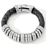 Leather Bling Bracelet