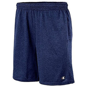 New Champion 85653 Authentic Cotton Jersey 9-Inch Men's Shorts with Pocket M-2XL