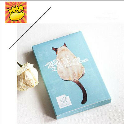 """Like a Cat"" 30 Pcs Mixed Postcards Set Postcard Lot Box Cute Gift Bookmark"