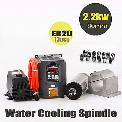 Konmison Cnc Spindle Motor Kits Milling Spindle Motor 80mm 2.2kw 13pcs Er20 Co