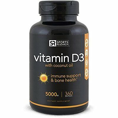 Best selling Vitamin D3 5000iu for Immune Support & Bone Health - 360