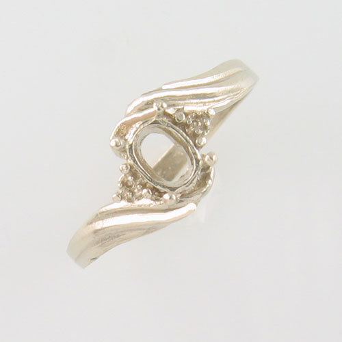 PRE-NOTCHED 6X4 DESIGNER OVAL SOLITAIRE RING .925 STERLING SILVER CR7SS