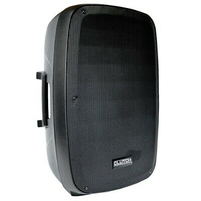 "Clutch 15"" Professional Powered Active Black Grill DJ PA Speaker w Bluetooth"