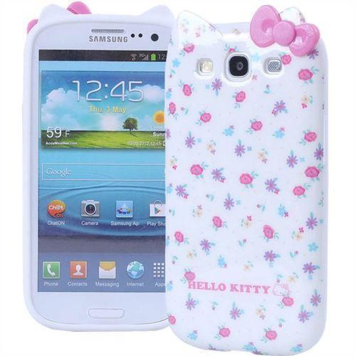 Cute Hello Kitty Minnie Cartoon Cat For Samsung Galaxy S3 ... |Samsung Galaxy S3 Mini Case Hello Kitty