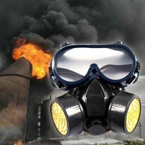 Half Face Painting Spraying Respirator Gas Mask w GOGGLES 2X FILTERS! USA FAST!