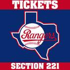 Texas Rangers Sports Tickets