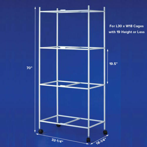 """4 Tiers Stand for 30""""x18""""x18"""" Size Aviary Canary Bird Cages T813 White"""