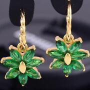 Emerald Earrings Yellow Gold