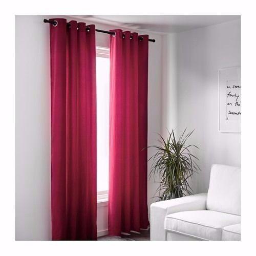 Ikea Sanela Curtains One Pair Of Dark Pink Velvet Curtains Brand