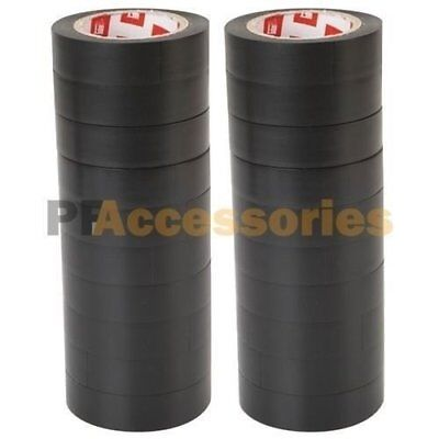 "20 Rolls 50 FT Purpose 0.7"" Inch Vinyl PVC Black Insulated Electrical Tape LOT"