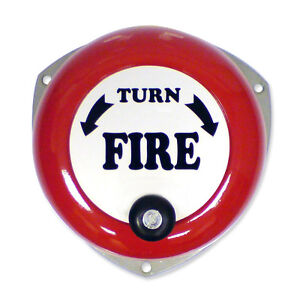 *SALE* ROTARY HAND FIRE SAFETY BELL MANUAL ALARM EMERGENCY *FAST FREE SHIPPING*