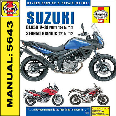 Suzuki DL650 V-Strom & SFV650 Gladius 2004 - 2013 Haynes Manual 5643 NEW