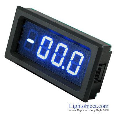 Dc 0-20a Blue 3 12 Digital Led Amp Current Meter Ammeter Panel Meter