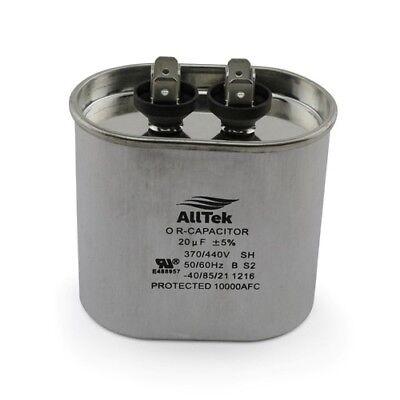 Alltek Oval Run Start Capacitor 20uf 370-440v
