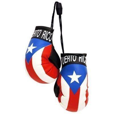 Puerto Rico Flag Car - PUERTO RICO RICAN FLAG HANGING MINI BOXING GLOVES CARS SOUVENIRS - YOU PICK