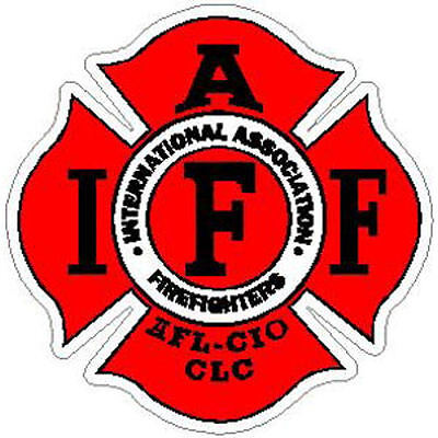 4 Inch Reflective IAFF Red Firefigher Maltese Sticker Decal