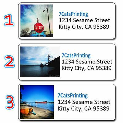 30 Any Custom Photo Return Address Labels Personalized