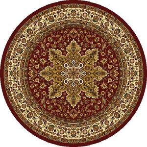 TRADITIONAL ROUND 5X5 ORIENTAL AREA RUG PERSIAN CARPET - ACTUAL 5' 2