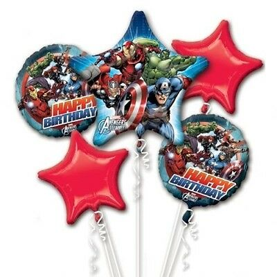 Marvel Avengers Happy Birthday Party Favor Supplies 5CT Foil