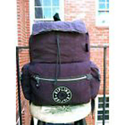KIPLING ERGONOMIC DESIGN LARGE DEEP PLUM / PURPLE BACKPACK / LAPTOP BAG GUC