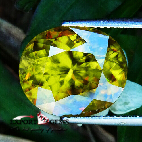 UNHEATED 10.38 CT NATURAL YELLOW OVAL SPHENE
