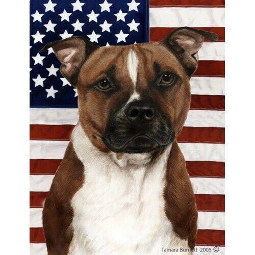 Patriotic (D2) Garden Flag - Pit Bull Terrier 322541