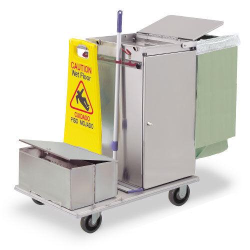 Royce Rolls #C30-LST2E Stainless Steel Mini-Size Microfiber Housekeeping Cart