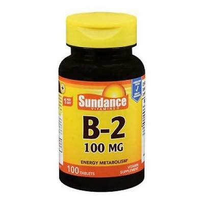 Sundance B2 100Mg Energy Metabolism Supplement 100 Tablets Each