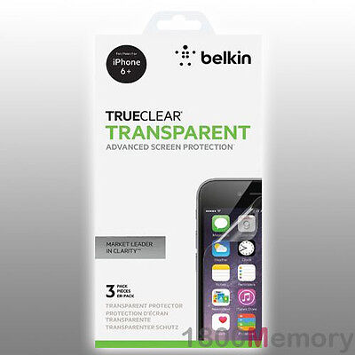 Belkin TrueClear Transparent Screen Protector 3Pack for iPhone 6 Plus 6S+ 5.5