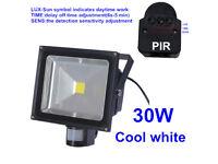 30W & 50W High Brightness COB LED Floodlight With PIR Motion Sensor, Security Garden Light Spotlight