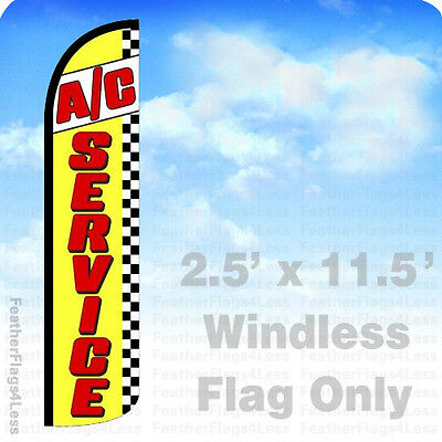 Ac Service - Windless Swooper Feather Flag Banner Sign 2.5x11.5 - Yz
